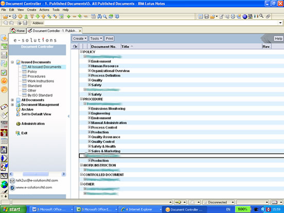 Document Controller | e-solutions ltd - Office 365 & IBM